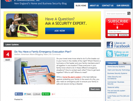 Business and Home Security Content
