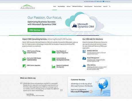 AbleBridge Website Redesign and CMS Migration