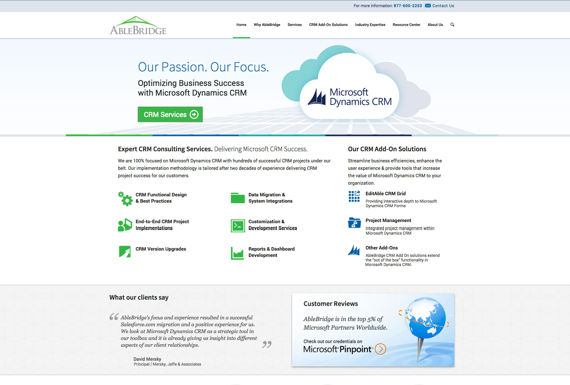 Ablebridge Website Redesign And Cms Migration Backbone Media