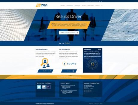 ZRG Partners Rebranding, Corporate Identity, New Website